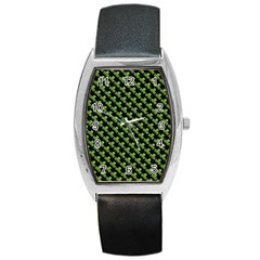 St Patrick S Day Background Barrel Style Metal Watch