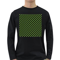 St Patrick S Day Background Long Sleeve Dark T Shirts