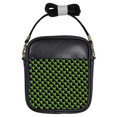 St Patrick S Day Background Girls Sling Bags