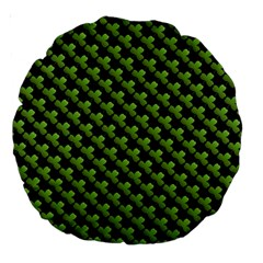 St Patrick S Day Background Large 18  Premium Round Cushions