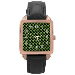 St Patrick S Day Background Rose Gold Leather Watch