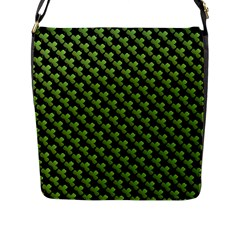 St Patrick S Day Background Flap Messenger Bag (L)