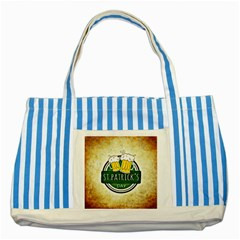 Irish St Patrick S Day Ireland Beer Striped Blue Tote Bag