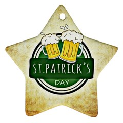 Irish St Patrick S Day Ireland Beer Star Ornament (two Sides)