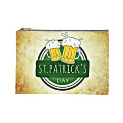 Irish St Patrick S Day Ireland Beer Cosmetic Bag (Large)