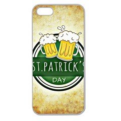Irish St Patrick S Day Ireland Beer Apple Seamless iPhone 5 Case (Clear)