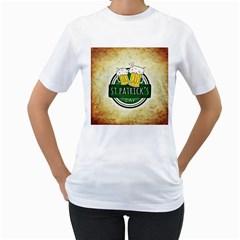 Irish St Patrick S Day Ireland Beer Women s T Shirt (white)