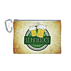 Irish St Patrick S Day Ireland Beer Canvas Cosmetic Bag (M)