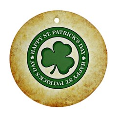 Irish St Patrick S Day Ireland Ornament (Round)