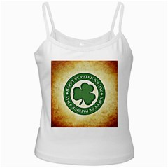 Irish St Patrick S Day Ireland White Spaghetti Tank