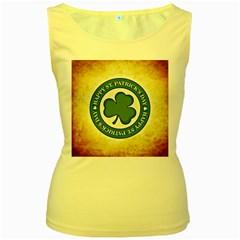 Irish St Patrick S Day Ireland Women s Yellow Tank Top