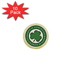 Irish St Patrick S Day Ireland 1  Mini Buttons (10 pack)