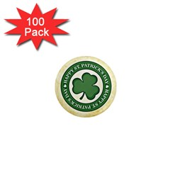 Irish St Patrick S Day Ireland 1  Mini Magnets (100 pack)