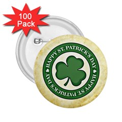 Irish St Patrick S Day Ireland 2.25  Buttons (100 pack)