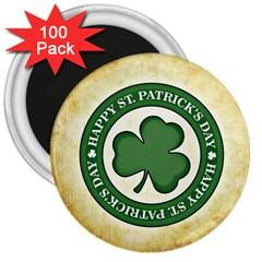 Irish St Patrick S Day Ireland 3  Magnets (100 pack)