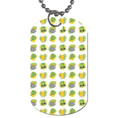 St Patrick S Day Background Symbols Dog Tag (One Side)