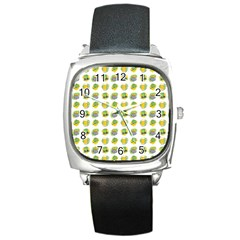 St Patrick S Day Background Symbols Square Metal Watch