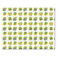 St Patrick S Day Background Symbols Rectangular Jigsaw Puzzl