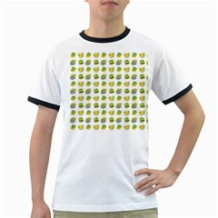 St Patrick S Day Background Symbols Ringer T Shirts