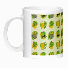 St Patrick S Day Background Symbols Night Luminous Mugs