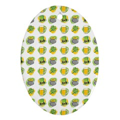 St Patrick S Day Background Symbols Oval Ornament (Two Sides)