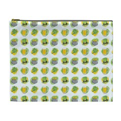 St Patrick S Day Background Symbols Cosmetic Bag (xl)