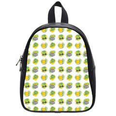 St Patrick S Day Background Symbols School Bags (Small)