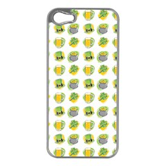 St Patrick S Day Background Symbols Apple Iphone 5 Case (silver)