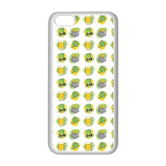 St Patrick S Day Background Symbols Apple iPhone 5C Seamless Case (White)