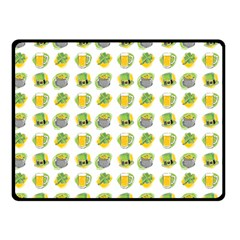 St Patrick S Day Background Symbols Double Sided Fleece Blanket (Small)