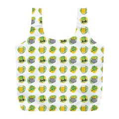 St Patrick S Day Background Symbols Full Print Recycle Bags (L)