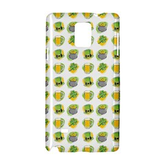 St Patrick S Day Background Symbols Samsung Galaxy Note 4 Hardshell Case