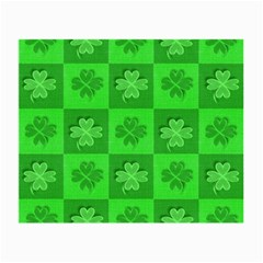 Fabric Shamrocks Clovers Small Glasses Cloth