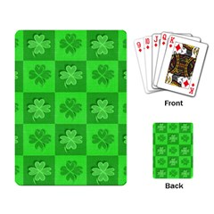 Fabric Shamrocks Clovers Playing Card