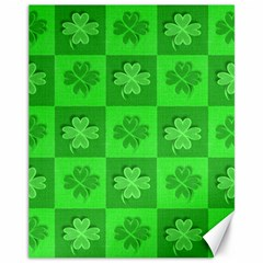 Fabric Shamrocks Clovers Canvas 11  x 14