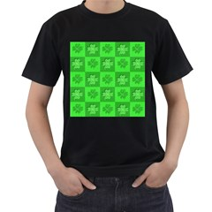 Fabric Shamrocks Clovers Men s T Shirt (black)