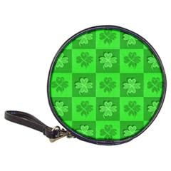 Fabric Shamrocks Clovers Classic 20 Cd Wallets