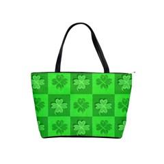 Fabric Shamrocks Clovers Shoulder Handbags