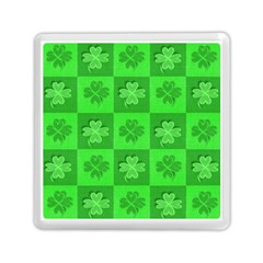 Fabric Shamrocks Clovers Memory Card Reader (square)