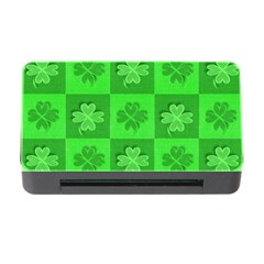 Fabric Shamrocks Clovers Memory Card Reader With Cf