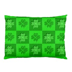 Fabric Shamrocks Clovers Pillow Case (Two Sides)