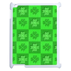 Fabric Shamrocks Clovers Apple iPad 2 Case (White)