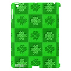 Fabric Shamrocks Clovers Apple iPad 3/4 Hardshell Case (Compatible with Smart Cover)