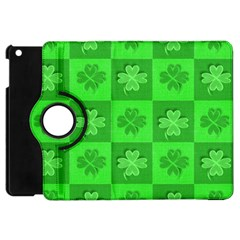 Fabric Shamrocks Clovers Apple iPad Mini Flip 360 Case