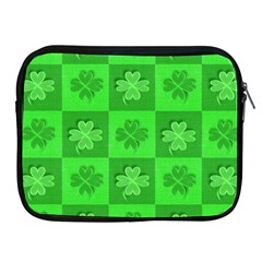 Fabric Shamrocks Clovers Apple Ipad 2/3/4 Zipper Cases
