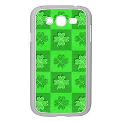 Fabric Shamrocks Clovers Samsung Galaxy Grand DUOS I9082 Case (White)