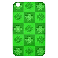 Fabric Shamrocks Clovers Samsung Galaxy Tab 3 (8 ) T3100 Hardshell Case