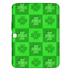 Fabric Shamrocks Clovers Samsung Galaxy Tab 3 (10.1 ) P5200 Hardshell Case