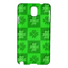 Fabric Shamrocks Clovers Samsung Galaxy Note 3 N9005 Hardshell Case