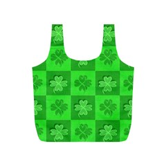 Fabric Shamrocks Clovers Full Print Recycle Bags (S)